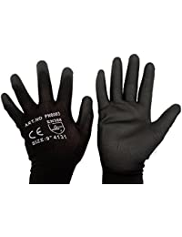 2 Pairs Of PU Coated Nylon Work Gloves All Sizes (8 / M)