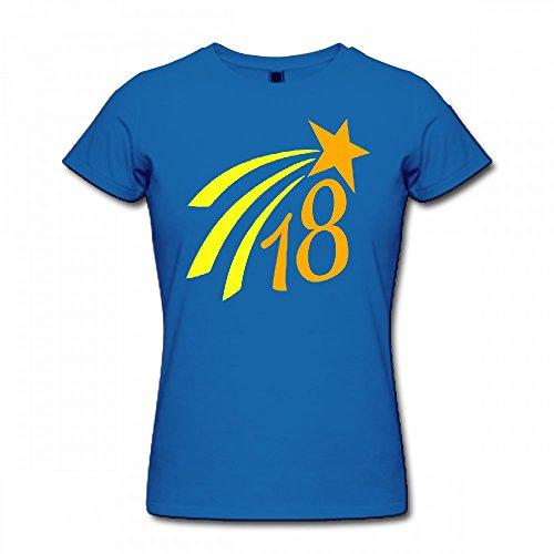 qingdaodeyangguo T Shirt For Women - Design 18 Star 2c Shirt blue