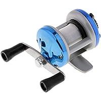 MagiDeal 1 Stk Bootsangeln Fliegenfischrolle aus Aluminiumlegierung f/ür Eisfischen