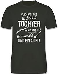 Vatertag - Ich Habe eine hübsche Tochter - Herren T-Shirt Rundhals 95b3ecb20d