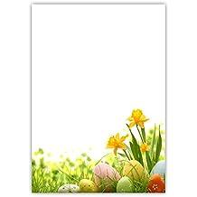 50 Blatt Ostereier in bunter Blumenwiese DIN A4 90 g//m/² Briefpapier Ostern