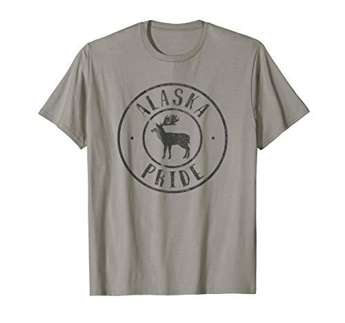 Alaska Pride T-Shirt Yukon Gold Mining I Love Alaska AK Tee - Alaska-kinder-t-shirt