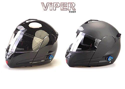 MOTORRADHELME BLUETOOTH VIPER V131+ 3.0 NEU MOTORRAD KLAPPHELME MIT BLUETOOTH 2 FARBE SCHWARZ, MATT SCHWARZ (XS, MATT SCHWARZ)