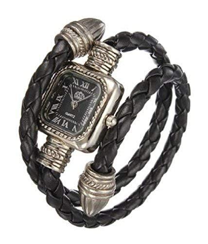 Damen Leder-Armbanduhr für Frauen, Schlangenarmband, Vintage