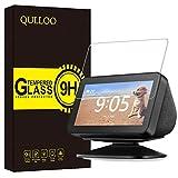 QULLOO Panzerglas für Amazon Echo Show 5 Display Folie 9H Verbesserte Gehärtetes Glasfolie Anti-Fingerabdruck Displayschutzfolie für Echo Show 5