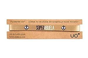 UO- Pulsera Estampado Súper Abuela, Color Dorado (