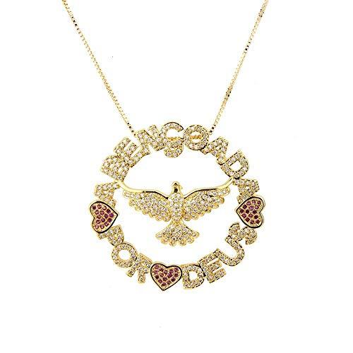 YDMSGSB Damen Halskette Anhänger Liebe St. Eagle Micro-Verkrusteten Zirkon Heiliger Geist Vogel Urlaub Geschenk Schmuck - Baby Zubehör Eagle