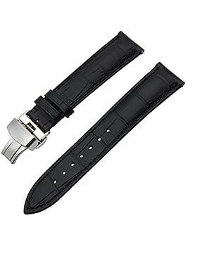 TRUMiRR 18mm Schnellwechsel Armband Echtlederarmband mit Schmetterlingsschnalle für Huawei Uhr 1. / Fit Ehre S1...