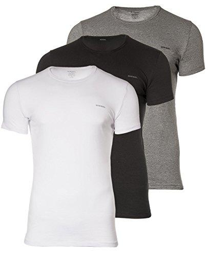 DIESEL 3 Pack Herren T-Shirt, Round Neck,