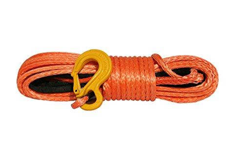 PowerLine Kunststoffseil für Seilwinde, 10mm x 28m, 10500 kg, Synthetikseil, Offroad, 4x4, Forst