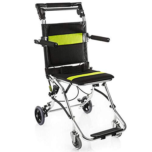 Lightweight ROMX Wheelchair for Adults Transport with 34cm Width Seat, Folding Transport Chair with Permanent Arms to the Desk, Black Frame