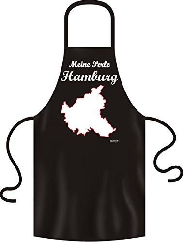 Cadeau spécial, patriotes pour barbecue et de cuisine (noir), hamburg meine perle.