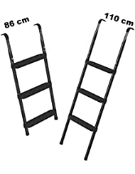Trampolin Leiter 86 oder 110 cm lang | Treppe mit 3 breiten Stufen | praktische Einstiegsleiter für Gartentrampoline