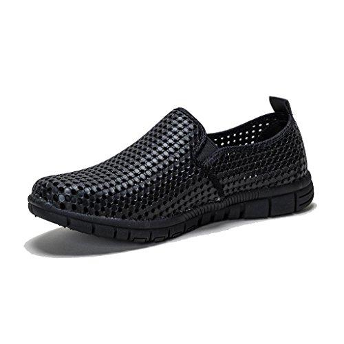 holees Original Damen Memory Foam leicht-Slipper Schuhe, verschiedene Farben und Größen zur Auswahl Schwarz