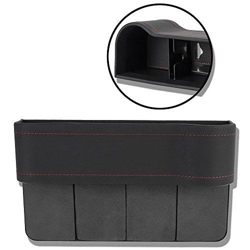 Preisvergleich Produktbild Autositz Seiten Schlitz Taschen Auto-Sitzablagefach Organizer für Auto füllt Lücken Zwischen den Sitzen, schwarz