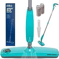 Home Icon mopa pulverizadora Equipada con depósito de Agua Integrado estanco, Dos gamuzas de Microfibra y Cepillo.