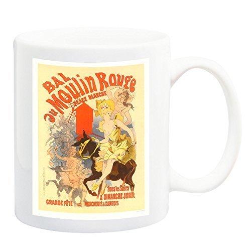 Bal Au Moulin Rouge Affiche Tasse - 11 Fluide Ml