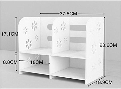 DFHHG® Librería Libro Stand 37.5 * 18.9 * 28.6 Cm Estilo de cajón Escritorio Estantes Ordenador Escritorio Escritorio de almacenamiento No cajón Blanco durable ( Color : #1 )
