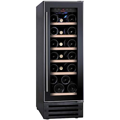 Baumatic BWC305SS/2 Built In Wine Cooler - Black / Stainless Steel