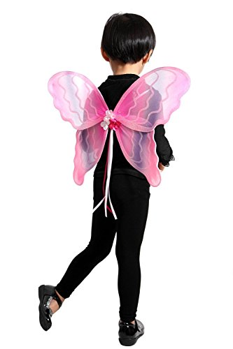 (El04 98-104 Flügel Kostüm Kind Kinder Kostüme für Karneval Fasching)