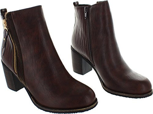 Lunar Flossie Ankle Boot Brown