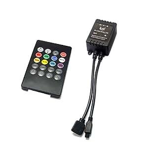 led musik controller 20 tasten remote 20 key controller fernbedienung f r rgb led. Black Bedroom Furniture Sets. Home Design Ideas