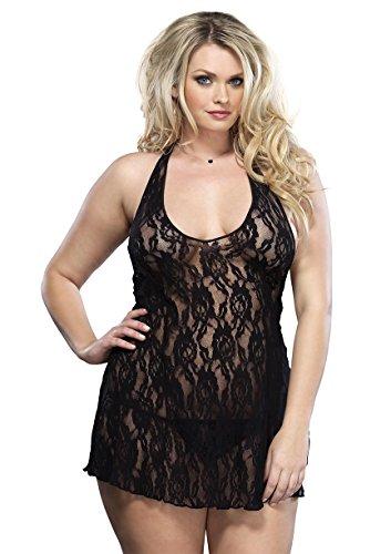 Preisvergleich Produktbild Leg Avenue Kleid aus Spitze Rosenmuster , 1 Stück
