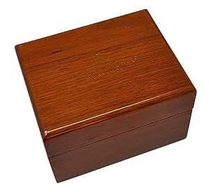 uhrenbox f r 1 uhr edle holzbox klavierlack top hellbraun k che haushalt. Black Bedroom Furniture Sets. Home Design Ideas