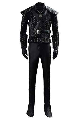 RedJade The Witcher Cavill Geralt Uniform Outfit Traje de Cosplay Hombres S