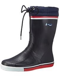 7aa2e8e8e033df Navyline Damen Herren Yachtstiefel - halbhoher Schaft mit Schnürung  Regenstiefel