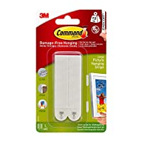 Command Picture Hanging Strips, Holds 16 lbs, 17206-ES, Large, White
