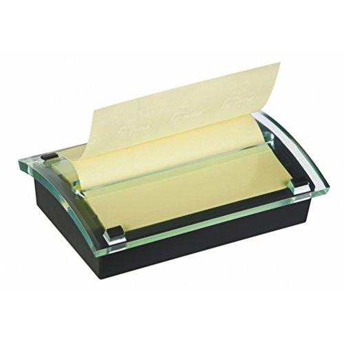 Post-It C-2015 - Dispensador de notas, diseño dual, con 1 paquete de notas, color negro/ transparente