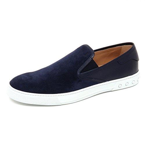 D2488 Sneaker Uomo Tods Cassetta Scarpe Blu Slip En Zapato Hombre Blu