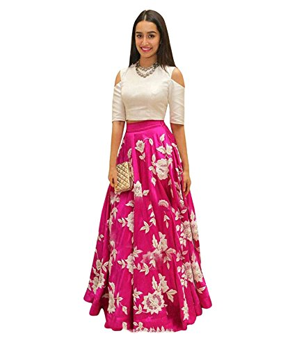 gowns for women party wear (lehenga choli for wedding function salwar suits for women gowns for girls party wear 18 years latest sarees collection 2017 new design dress for girls designer sarees new collection today low price new gown for girls party wear by Soham fabrics (pink)  available at amazon for Rs.379