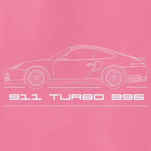 Seitenansicht Porsche 911 Turbo 996 (2001 - 2005) - Unisex Pullover/Sweatshirt - 8 Farben Rosa