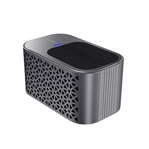 [2016 Neuerscheinung] Aluminum Bluetooth Lautsprecher 4.0, 4400mAh Batterie für 24-Stunden-Spielzeit , Treiber Dual 5 Watt, Eingebautes Mikrofon, SD Micro-Karte und HD-Stereo-Sound