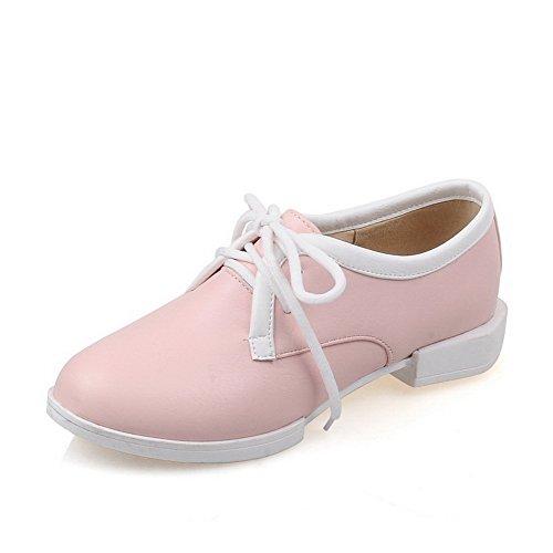 balamasa-womens-bandage-square-heels-round-toe-pink-urethane-flats-shoes-4-uk