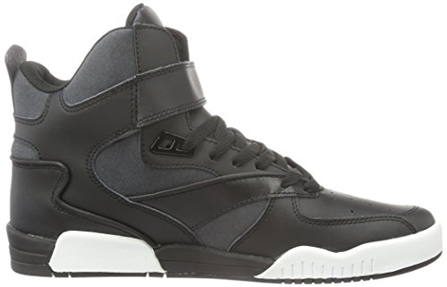 Supra Bleeker, Baskets Basses Homme Noir (Black/Charcoal Wht)