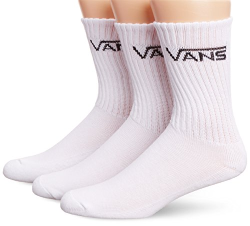 - Crew-socken (Vans Herren M Classic Crew Socken, 3er Pack, weiß (White), 38.5-42 EU)
