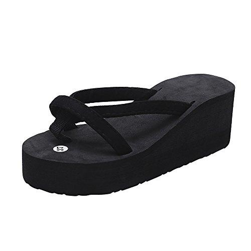 Damen Schuhe, Mode Hausschuhe Sommer Mode Slipper Flip Flops Strand Keil Dicke Sohle Schuhe mit Absatz Flipflop Lässige Schuhe für zu Hause Stiefel Strandschuhe (Haus Hausschuhe Sport)