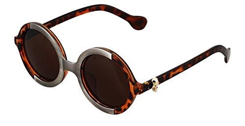 Design vintage rétro unisexe lunettes de soleil ronde pour femmes 25ef008851ff