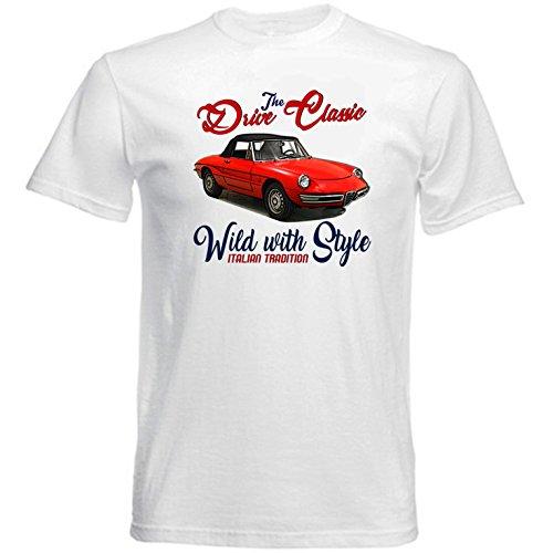 TEESANDENGINES Men\'s ALFA Romeo Duetto (1) White T-Shirt Size XLarge