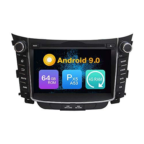 Android 9.0 Octa Core 4G Ram 64 GB Rom Autoradio GPS Navigation Lenkradsteuerung DVD-Multimedia-Spieler Headunit Stereo Link spiegeln WiFi FürHYUNDAI I30 2011 2012 2013 2014 2015 2016