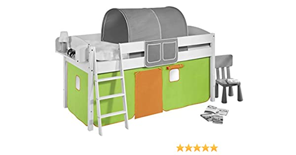 Etagenbett Grün : Vorhang pferde grün beige für hochbett spielbett und etagenbett