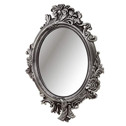 Espejo Cornucopia de plástico Gris clásico para salón de 70 x 50 cm France - LOLAhome