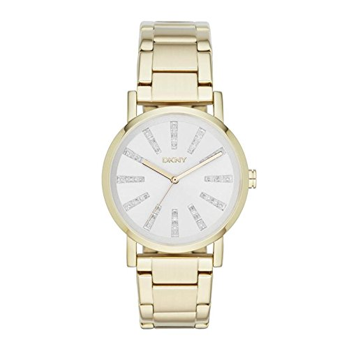 DKNY (DNKY5) Women's Quartz Watch with Gold Dial Analogue Display and Gold Stainless Steel Bracelet NY2417