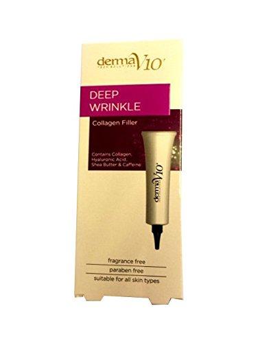 Derma V10 Deep Wrinkle Collagen Filler Face Cream 15ml-NEW