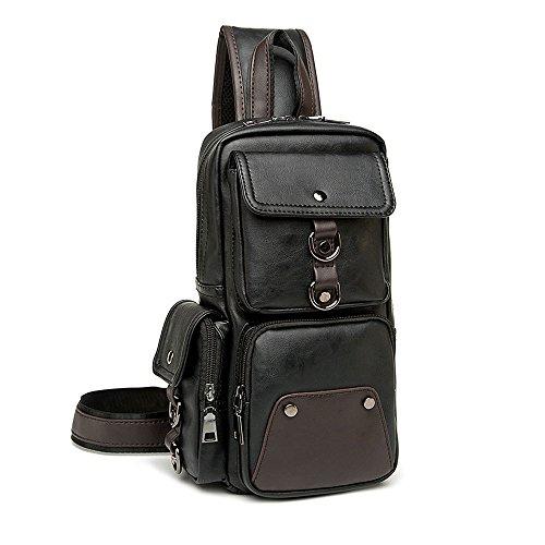 ivotre Brust Pack für Herren Casual Modische Utilitarian Schulter-Sling Bag 4. Große Kapazität Exquisite Craft und hervorragende Hardwar...