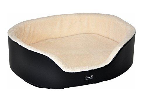 nanook Luxus-Hundebett Gr. XL - 90 x 70, schwarz, abnehmbarer Bezug, hoher formstabiler Rand
