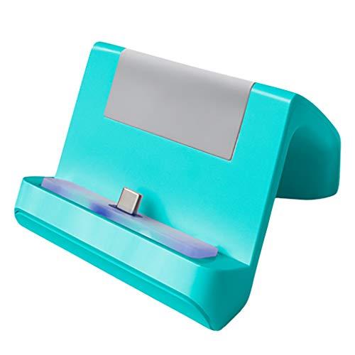 Ladestation für NS Switch Lite Console,Nourich Einstellbare USB-Ladestation Typ C Schnellladegerät Schnellladestation Dock Pad Cradle Ladestation Ständer Ladeständer Ladestation (Minzgrün)